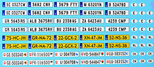 Indicator E+ Nl +Ch For Model Cars License Plate 1:24 Decal