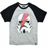 NEW STAR WARS STORMTROOPER WHITE COTTON BOYS TOP TEE T-SHIRT SIZE 3,4,5,6,7