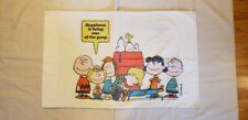 Vintage 1971 Charlie Brown Peanuts Snoopy Happiness Is Pillowcase