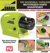 Electric Knife Sharpener Kitchen Knives Blades Drivers Swifty Cutlery Tool New -