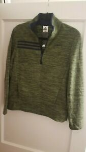 Adidas Half-Zip Hoodie Boys Size Large (14-16) Olive - Brand New w/ Tags $45