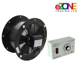 """Industrial Cased Extractor Fan 14"""" Duct Commercial Ventilation +Speed Controller"""