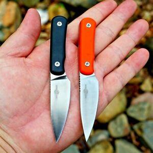 Mini Drop Point Knife Hunting Combat Tactical Survival Vanadium Blade G10 Handle
