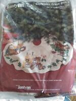 Janlynn Trio of Teddies Tree Skirt counted cross stitch kit