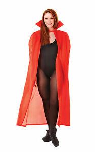 HALLOWEEN CAPE RED VAMPIRE FANCY DRESS  DEVIL VAMPIRE  VAMP RED RIDING HOOD