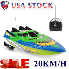 Rc Racing Boat High Speed Radio Controlled Motor 20km/H Toy For Lakes Pools
