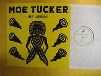 "MAUREEN TUCKER Hey Mersh! 12"" Single w/ Press Kit w/ Sonic Youth +Lou Reed 1989"