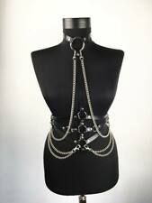 Sexy Women Body Leather Harness Chest Bra Straps Belt Punk Gothic Corsets