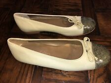 Tommy Bahama Woman's Green Leather Flats Size 8