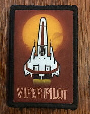 Battlestar Galactica Viper Pilot Morale Patch Military Tactical Army Flag USA
