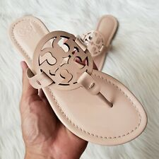 Tory Burch Miller Patent Leather Sandals in Sea Shell Pink Womens Size 9