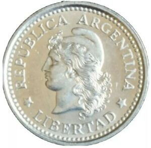 1960 ARGENTINA 20 CENTAVOS OLD VINTAGE COIN KM# 55 UNC