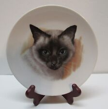 Siamese Cat Plate Bavaria Germany Golden Crown E&R Vintage