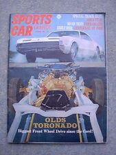 Sports Car Graphic (Oct 1965) Ferrari 275GTB, Mercedes 250SE, Ford GT40,Toronado
