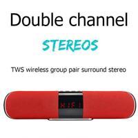 TWS Bluetooth Speaker Dual Horn 10W Subwoofer Stereo Music Player FM USB Radio T