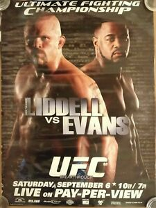 UFC 88:  Breakthrough, PPV Promo Poster, Liddell, Evans, Very Good Condition