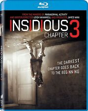 INSIDIOUS: CHAPTER 3 BLU-RAY - SINGLE DISC EDITION - NEW UNOPENED