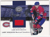 01-02 Greats Of The Game Larry Robinson Jersey Original Six Canadiens 2001