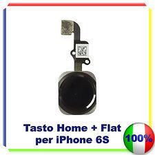 TASTO CENTRALE HOME BUTTON COMPLETO FLAT FLEX PER IPHONE 6S NERO