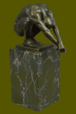 Signed Original Milo Sensual Nude Naked Man Bookend Bronze Sculpture Hot Cast