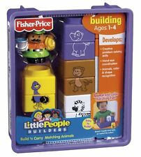 Fisher Price Little People Builders Build 'n Carry Matching Animals *new*