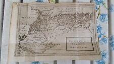STAMPA INCISIONE ORIGINALE 1735 CARTA GEOGRAFICA MAURETANIA NUMIDIA AFRICA NORD