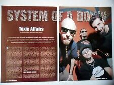 COUPURE DE PRESSE-CLIPPING :  SYSTEM OF A DOWN [3pages] 10/2001 Daron Malakian