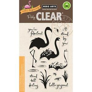 """Hero Arts Color Layering Flamingo Clear Stamps 4""""X6"""""""