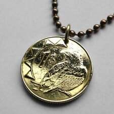 2010 Namibia 1 Dollar Bateleur Eagle Windhoek African oryx coin pendant n001334