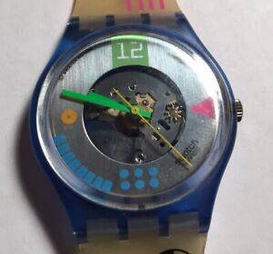1990 Vintage Swatch Watch GN108 Computrip Great Cond
