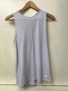 Nike Dry Yoga Tank Studio Open Back Light Lilac Purple Women's Size S