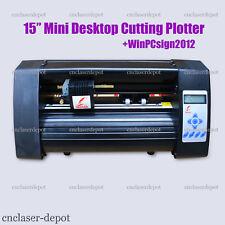 """Black 15"""" Desktop Vinyl Cutter Contour Cutting Plotter & WinPcsign 2012 Basic"""