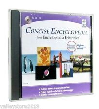 Encyclopedia Britannica Concise CD Windows/MAC Dictionary& Thesaurus NEW