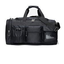 Gym Bag Sports Duffel Bag Outdoor Fitness Training Luggage Bag Waterproof Black