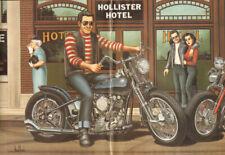 """1993 Vintage David Mann """"Wild One"""" 16 x 20 Matted Biker Art Poster"""