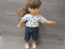 "American Girl 18"" Doll Brown Hair Hazel Eyes Pleasant Company"