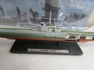 ATLAS EDITIONS - 1941 ORZEL SUBMARINE WW2  - SMALL SCALE MODEL U BOAT COLLECTION