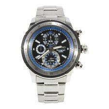 Seiko Criteria SNAC85 P1 Silver Black Dial Men's Chronograph Quartz Watch