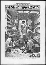 1875 Antique Print - INDIA Post Office Steamer Pekin Letters Pigeon Hole   (245)
