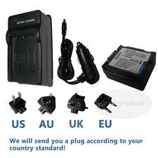 Battery + Charger For PANASONIC VDR-D210 VDR-D220 VDR-D230 VDR-D250 Camcorder