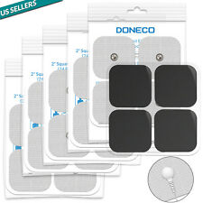 """DONECO 2"""" Square TENS Unit Electrodes Snap On Pads 12 Pairs (24Pads)"""