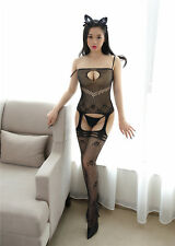 Sexy lingerie Corset bodystocking Wrap Fishnet Exotic bodysuit open plus size