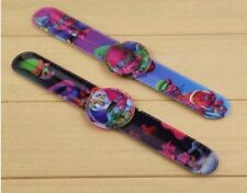 (6) TROLLS MOVIE Children Slap on Band Digital Watches Birthday PARTY, GIFT NEW