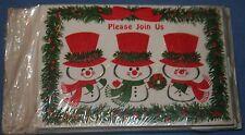 Christmas Invitation Card Hallmark Plan A Party NIP Snowman Winter Holiday