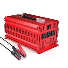 BESTEK 2000W/4600 Watt Power Inverter 12V DC to 110V AC Adapter Charger Car