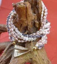 Tolle Keshi Perlen Halskette in 585 Gelbgold und Diamanten