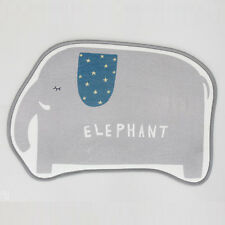 Non-Slip Kiddy Elephant Area Rug, Multi Mat Shower Carpet Bathroom Home Decor