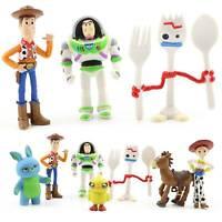 7Pcs Toy Story 4 Woody Buzz Lightyear Rex Alien Forky Bunny Figure Cake Topper