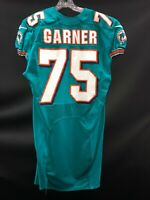 #75 ANDREW GARNER MIAMI DOLPHINS GAME USED AQUA NIKE JERSEY SIZE-44 -YEAR 2012
