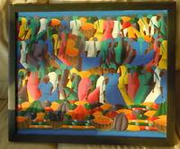 Haitian Haiti Painting by R. Romain , Folk Art?